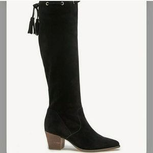 New Sole Society Aresa Suede Knee High Boots Sz 11